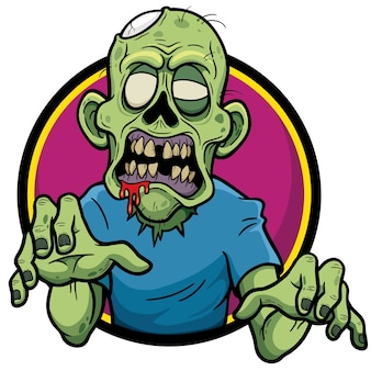 Zombie cartoon