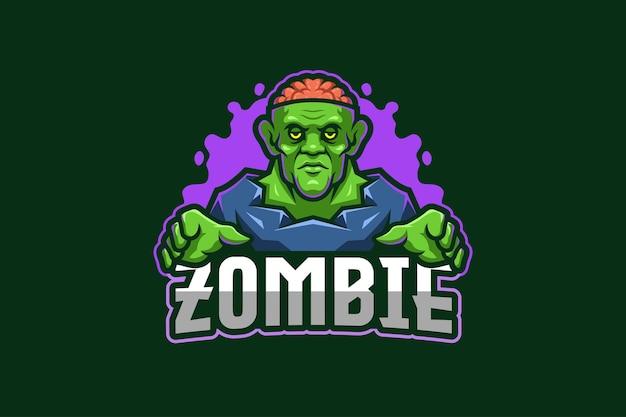 Zombie e-sport logo modello