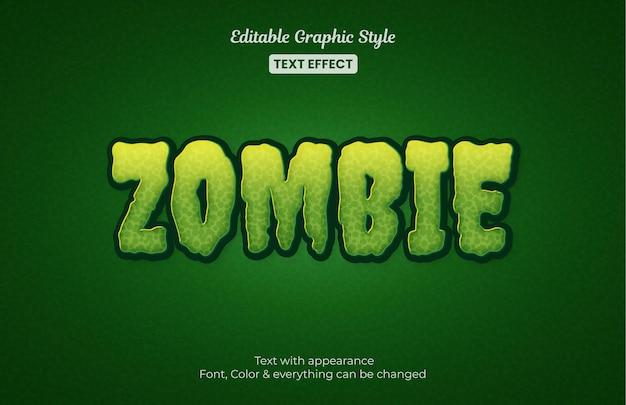 Effetto di testo modificabile zombie