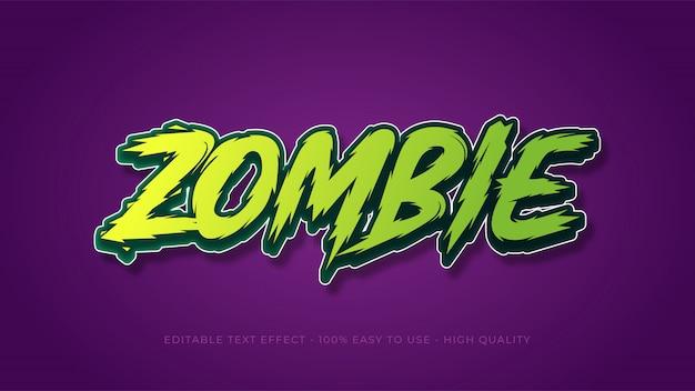 Effetto di testo modificabile di zombie
