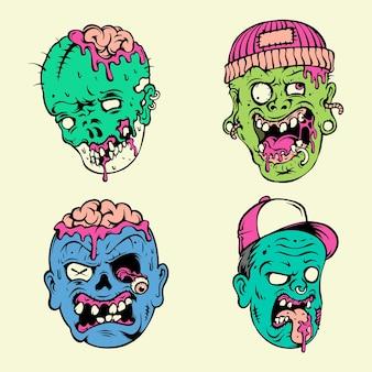 Testa di zombie vettoriale se