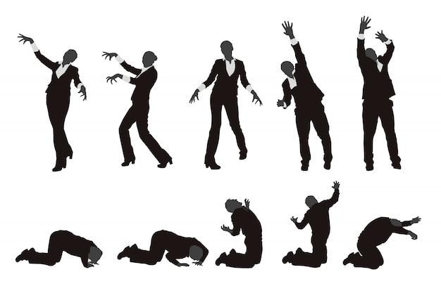 Set di sagoma di zombie