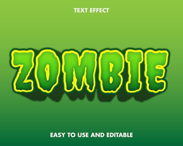 Effetto testo zombie. facile da usare e modificabile. illustrazione vettoriale