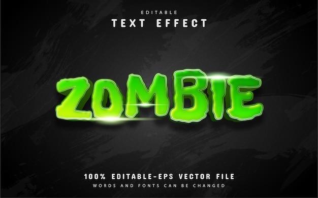 Effetto testo zombie