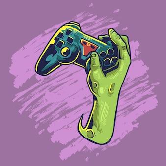 Zombie che giocano gioco