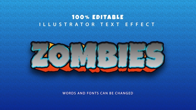 Effetto stile testo zombie, testo modificabile
