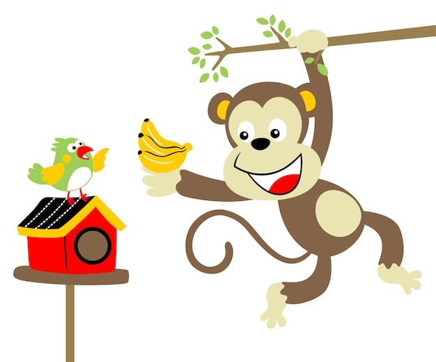 Zoo vita vettore di cartone animato