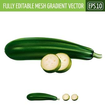 Illustrazione di zucchine su bianco