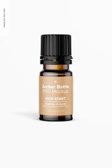0.17 oz amber fles mockup