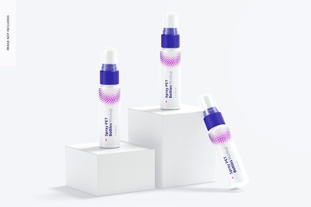 1 oz spray pet-fles set mockup