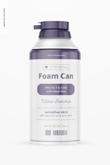 10,5 oz foam can mockup, vooraanzicht