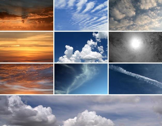 10 hoge resolutie cloud textures