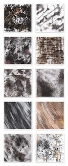 10 verf en paper textures