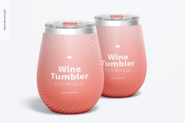 12 oz wine tumblers mockup, vooraanzicht