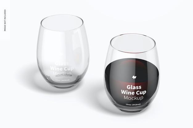 15 oz glazen wijnbekers mockup