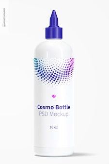 16 oz cosmo-fles met mockup met gedraaide dop