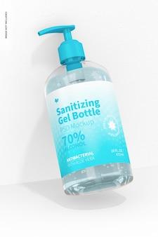 16 oz sanitizing gel bottle mockup