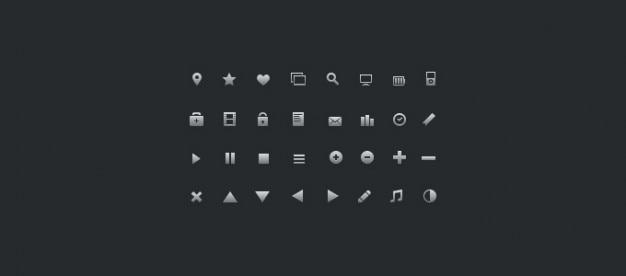 16px glyph pictogrammen