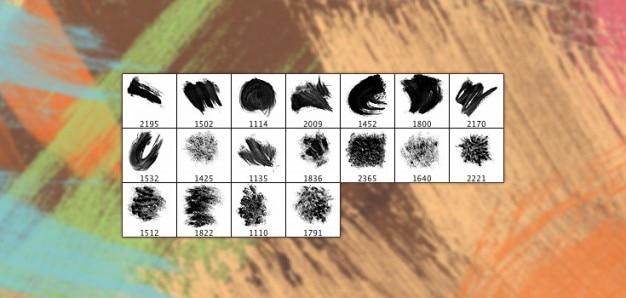 18 pinceles de acrílico de alta resolución esponja