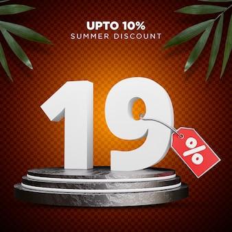 19 procent korting zomer 3d-ontwerp
