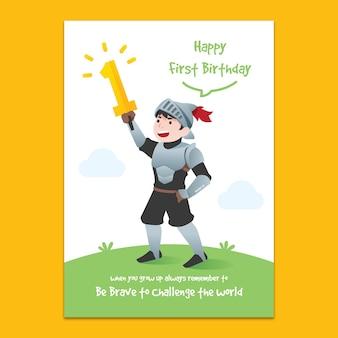 1e verjaardag uitnodiging mockup
