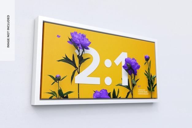 2: 1 liggend frame mockup
