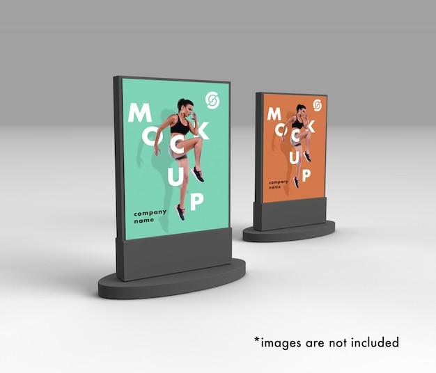 2 3d-posters mockup