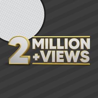 2 millones de vistas 3d