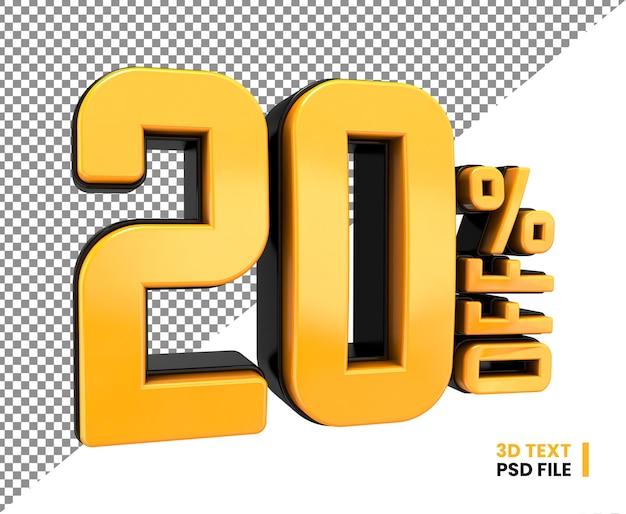 20 procent korting op 3d mega sale-kortingsnummer
