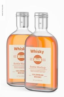 200 ml whisky flessen mockup