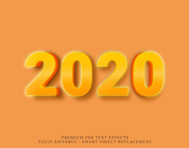 2020 effetti di testo