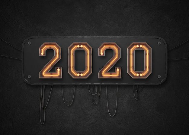 2020 gelukkige nieuwe jaarachtergrond