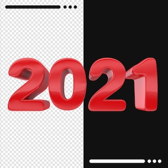 2021 feliz año nuevo en render 3d