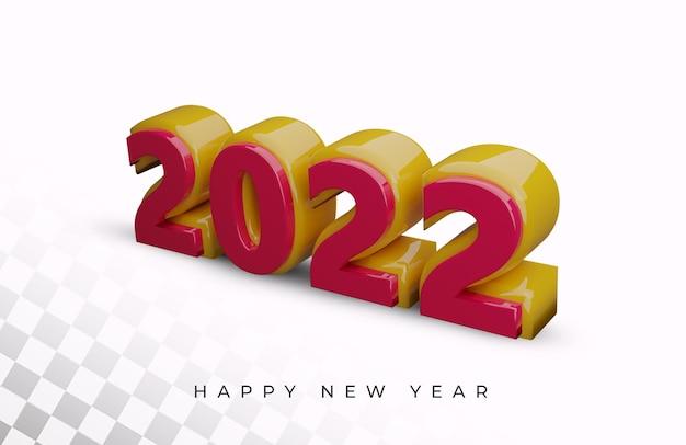 2021 nieuwjaar 3d render alfabet teksteffect