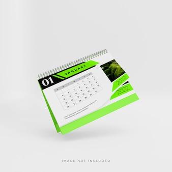 2022 3d bureaukalender mockup-ontwerp