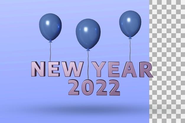 2022 gelukkig nieuwjaar 3d-teksteffect