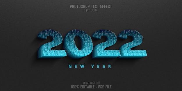 2022 nieuwjaar tekststijl effect sjabloonontwerp