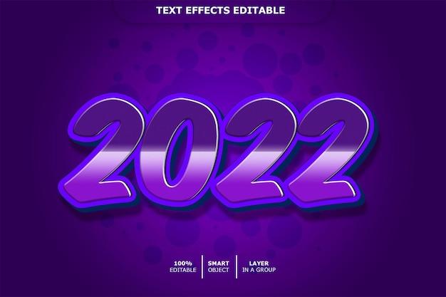 2022 teksteffect bewerkbaar