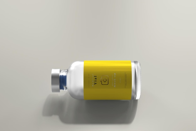 25 ml flesje fles mock up