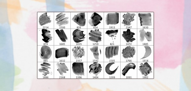 28 ad alta risoluzione acquerello brushes