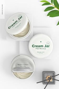3,38 oz cream jars mockup