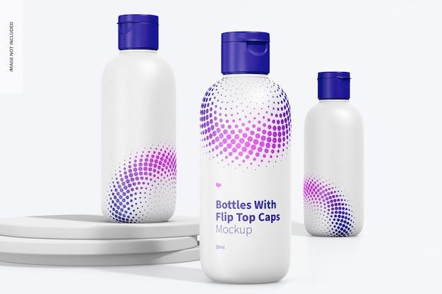 30 ml fles met flip-top dop set mockup