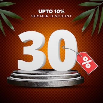 30 procent korting zomer 3d-ontwerp