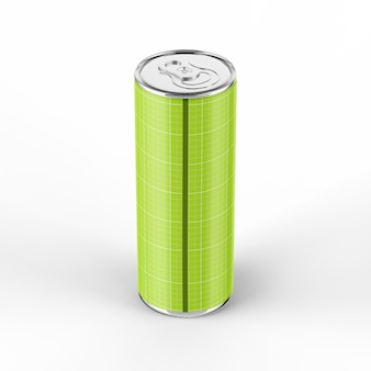 355ml energy drink può mockup