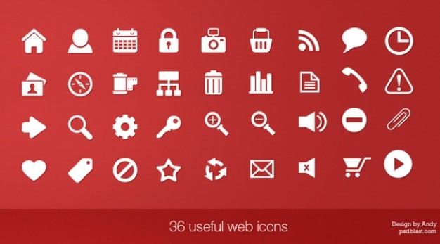 36 nuttige web icons