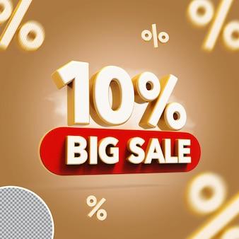 3d 10 procent biedt grote verkoop
