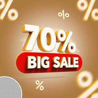 3d 70 procent biedt grote uitverkoop