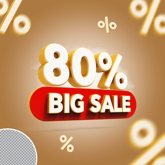 3d 80 procent biedt grote verkoop