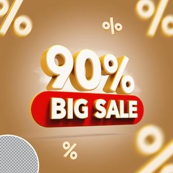 3d 90 procent biedt grote verkoop