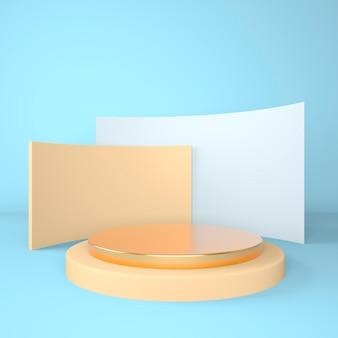 3d abstracte achtergrond mock up scène geometrie vorm podium voor product display 3d illustratie.